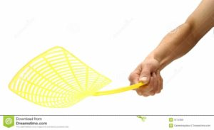 yellow fly swatter
