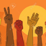23193698-Hands-rising-in-political-protest-Stock-Vector